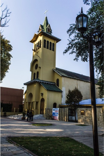 Tour in Isla de Maipo. Our Lady of Mercy Church. Santiago Chile