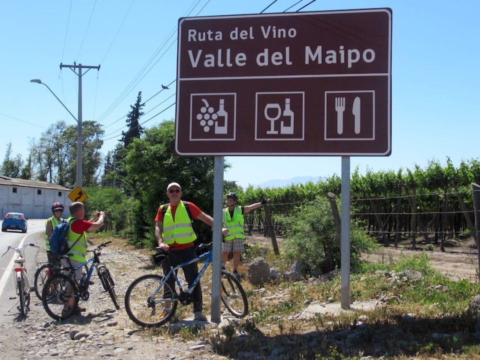 Santa Ema bike wine tour