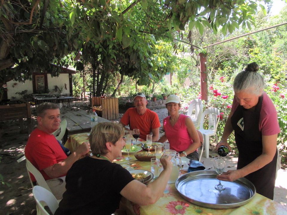 Lunch at Peumayen bike wine tour
